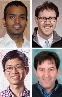 pictures of Shyam Gollakota, Jacob Sunshine, Justin Chan and Thomas Rea
