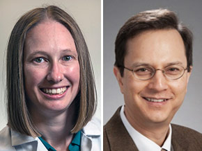 pictures of UW Medicine researchers Kelly Paulson and Paul Nghiem