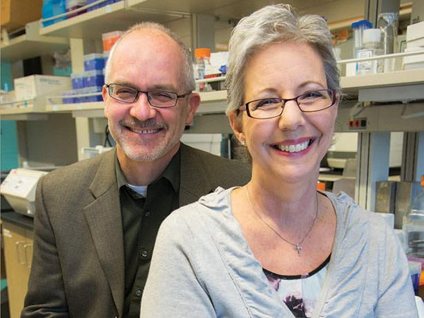 picture of Dr. Tony Blau with patient Cathleen Olivas during the ITOMIC trial.