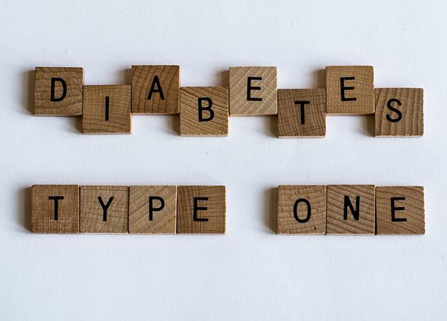 "Scrabble tiles spell ""diabetes type one"""