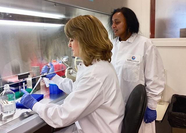 picture of Drs. Kristina Adams Waldorf and Lakshmi Rajagopal