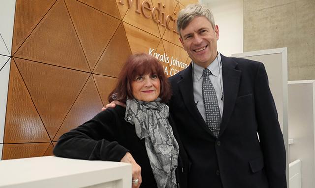 Anjie Karalis Johnson and Russ Van Gelder