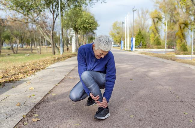 olderwoman with ankle pain