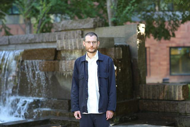 Trevor Bedford outside Fred Hutchinson Cancer Research Center