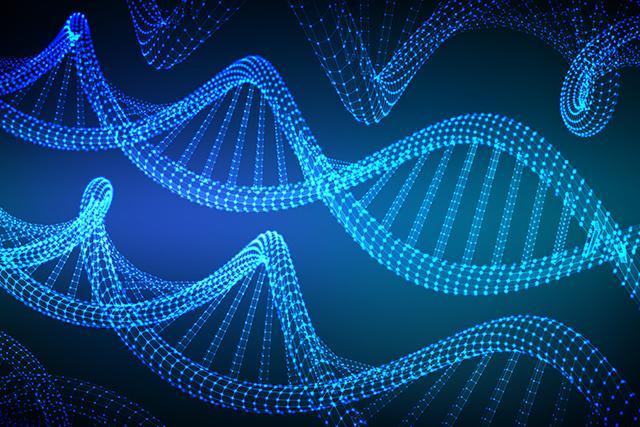Artist's conception of DNA moleculres