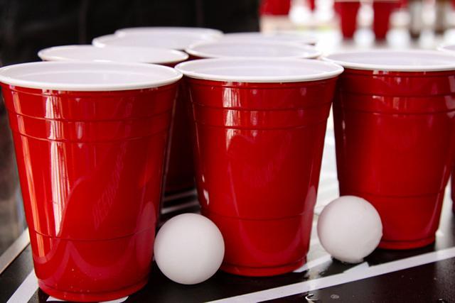 keg cups and ping pong balls