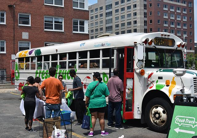 Fresh Truck Boston Housing Authority Healthy Families Project