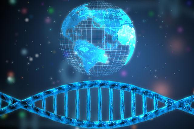 Artists concept of global studies of human genetic diversity