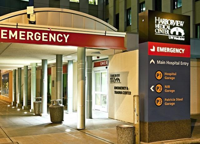 picture of Emergency Department entrance at Harborview Medical Center