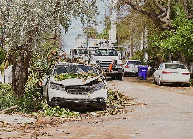post-hurricane picture of Key West, Florida, in September 2017