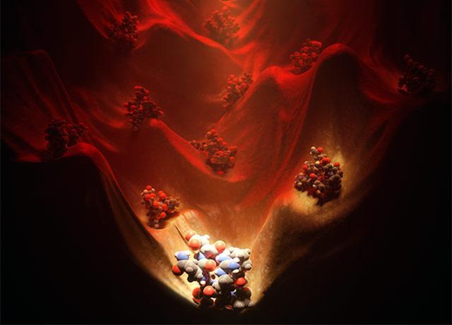 "This conceptual art ""Illuminating the energy landscape"""