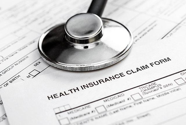 picture of paper health insurance form