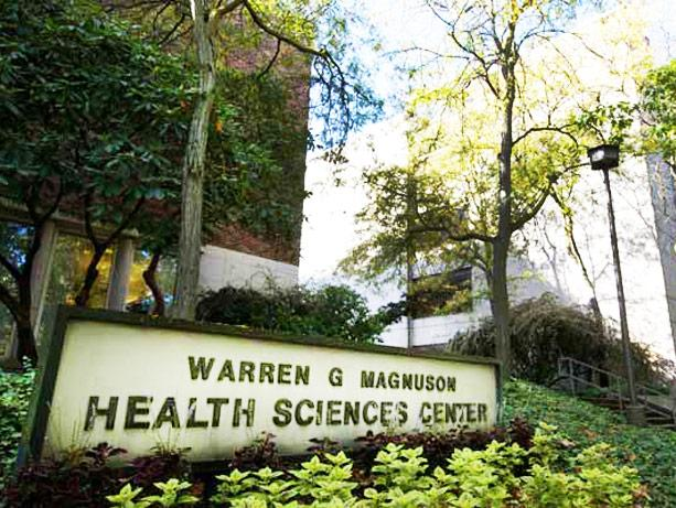 picture of Warren Magnuson Health Sciences signage at the University of Washington