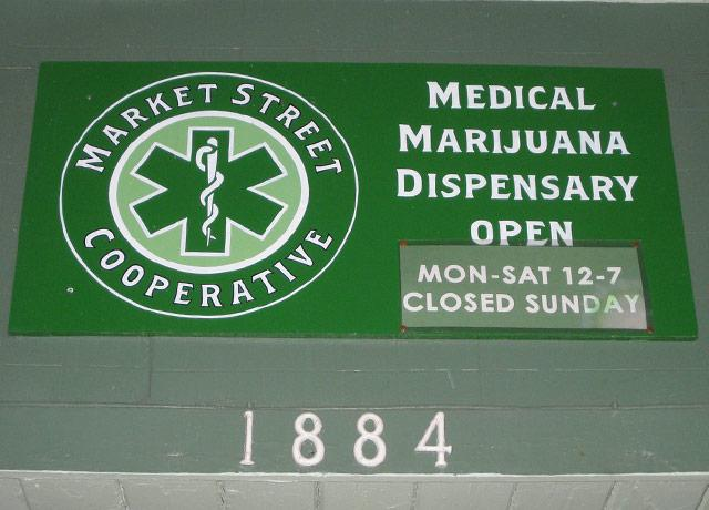picture of a medical marijuana dispensary sign
