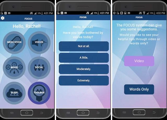 picture of smartphone mental-health application