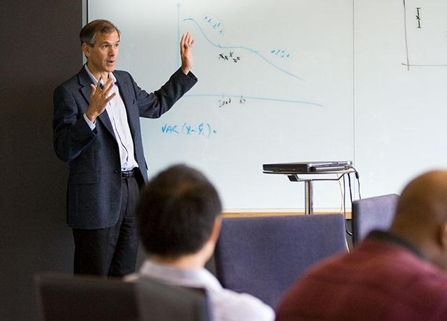 picture of Dr. Chris Murray teaching in class