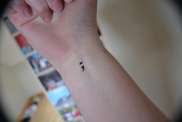 Semicolon tattoo