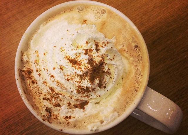 picture of a pumpkin spice latte