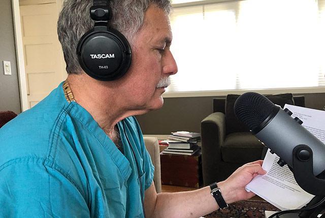 Dr. Richard Pelman during an interview