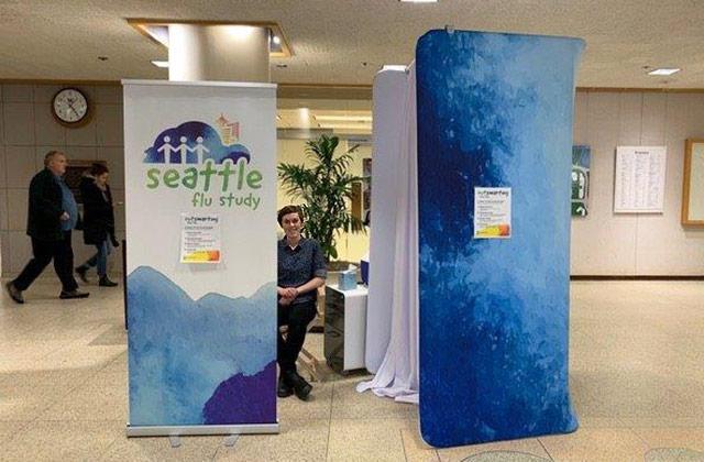 picture of Seattle Flu Study kiosk