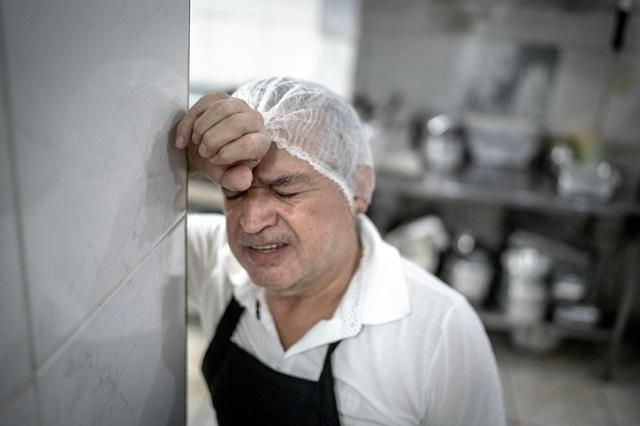 Very tired chef