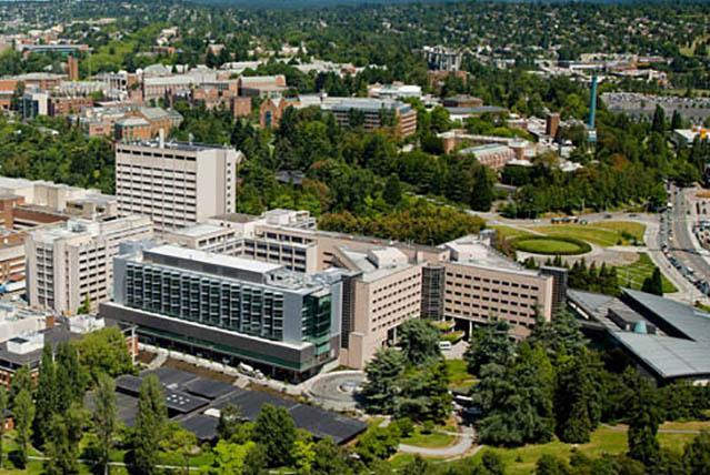 Aerial view of University of Washington Medical Center