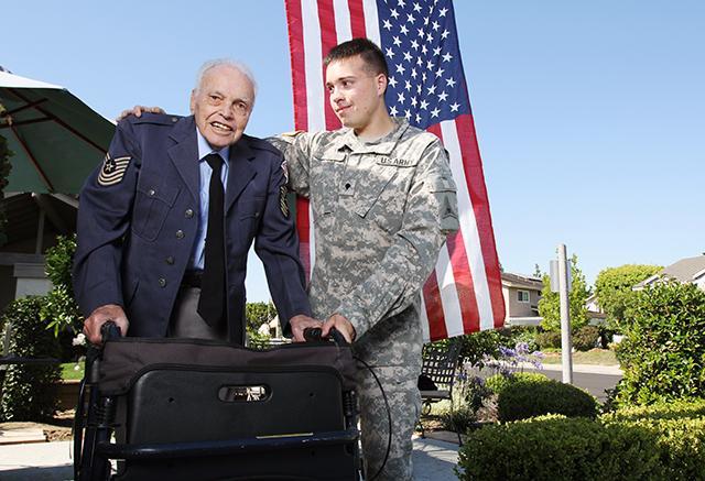 grandfather and grandson, both U.S. veterans