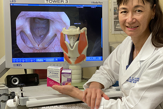 Dr. Tanya Meyer displays botulinum neurotoxin products