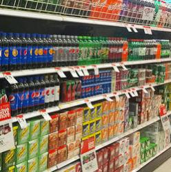 soda aisle at the supermarket