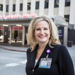 CEO Sommer Kleweno Wally outside Harborview Medical Center in Seattle