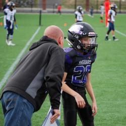 picture of Andrew Ronneberg playing youth football