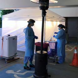 drive-thru coronavirus testing at UW Medical Center Northwest