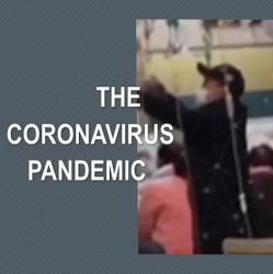 montage of images related to coronavirus