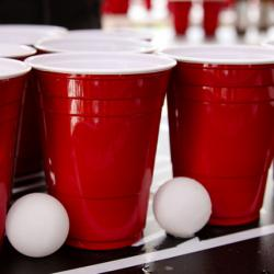 keg cups and ping pong balls
