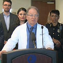 Dr. Fred Rivara of UW Medicine speaks at a news conference March 21, 2018.