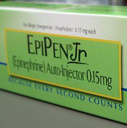 picture of a pediatric EpiPen in box