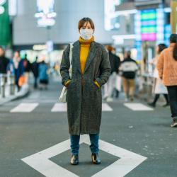 woman with mask in Japan