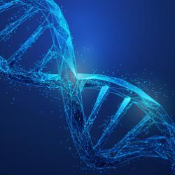 Illustration of DNA molecule