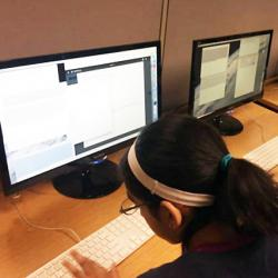 women in summer camp learning computational biology