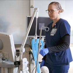 A still from UW Medicine news video on COVID ventilator use