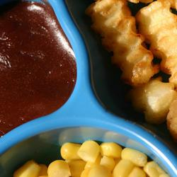 picture of TV dinner for a child