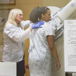 a technician conducts a mammography screening at UW Medical Center in Seattle