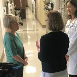 Senator Patty Murray meeting with doctors at women's health clinic in Harborview