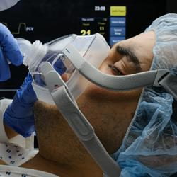 hospital patient on a ventilator