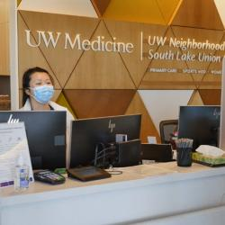 UW Medicine South Lake Union outpatient clinics reception desk