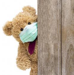 teddy bear with mask