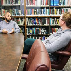 picture of Jamie Kadri and Denise Dudzinski of the University of Washington Department of Bioethics and Humanities.