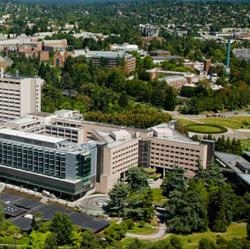 Aerial view of University of Washington Medical Center