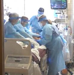 image grab from video of UW Medical Center - Northwest COVID-19 unit