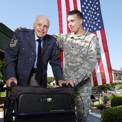 grandfather and grandson, both U.S. veterans